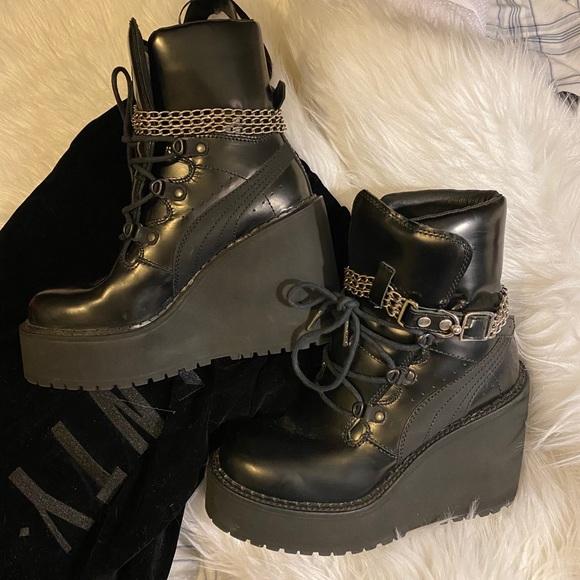 rihanna boots fenty